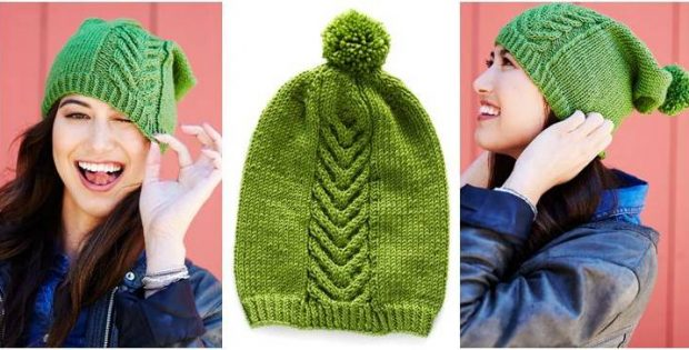 Chic Knitted Cable Twist Hat  FREE Knitting Pattern  b6ea0a75ac9