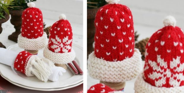 Christmas Knitted Breakfast Set Free Knitting Pattern