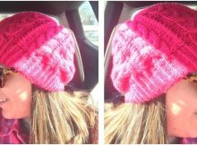 chunky cables knitted hat | the knitting space