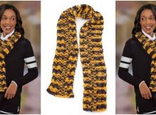 chunky goal line knitted scarf | the knitting space