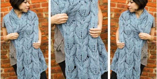 Chunky Knitted Cabled Muffler Free Knitting Pattern