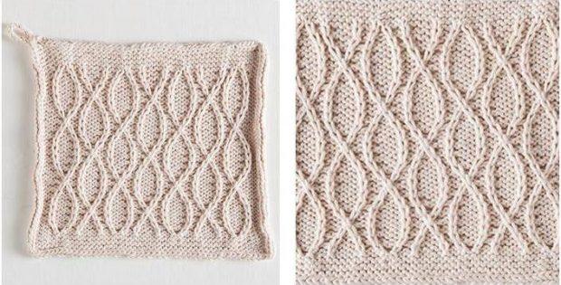 Classy Ceramic Knitted Dishcloth Free Knitting Pattern
