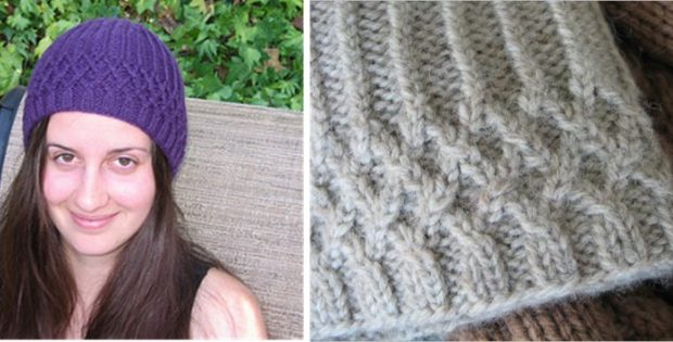 Claudia Knitted Textured Hat Free Knitting Pattern