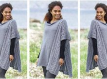 cloudy day knitted poncho | the knitting space