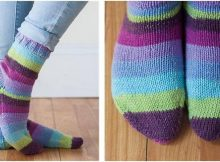 colorful accogliente knitted socks | the knitting space