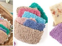 colorful knitted face pads | the knitting space
