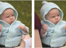 comfy knitted baby cardigan | the knitting space