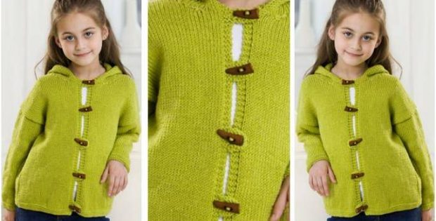 Comfy Knitted Hooded Jacket [Free Knitting Pattern]