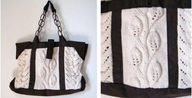 Stylish Copy Cat Knitted Bag Free Knitting Pattern