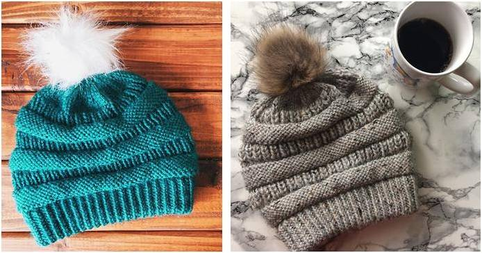 Copy Cat Cc Knitted Slouchy Beanie Free Knitting Pattern