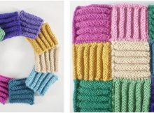 corduroy knitted afghan block | the knitting space