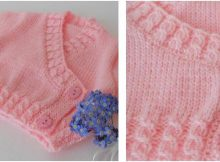 corsage heart knitted baby cardigan | the knitting space