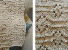 cosy knitted baby blanket | the knitting space