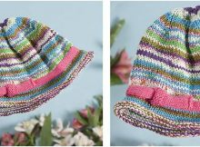 cotton bam boo knitted baby hat | the knitting space