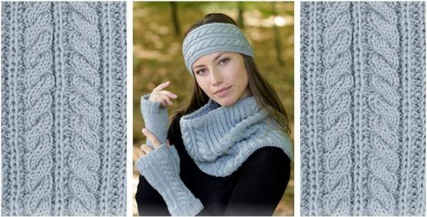 cozy knitted cable warmers | the knitting space