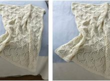cozy luxe knit baby throw | the knitting space