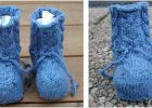 cozy owl knitted baby booties   the knitting space