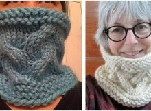 cozy sand play knitted cowl | the knitting space