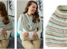 cozy shoulders knitted poncho | the knitting space