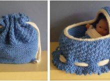 cradle bag knitted doll accessory | the knitting space