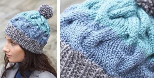 Cable Crush Knitted Winter Hat  FREE Knitting Pattern  cee31639f532