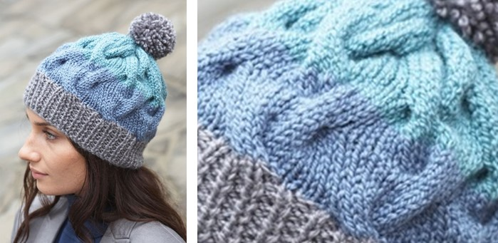 dd7b486c388 Cable crush knitted winter hat free knitting pattern jpg 699x341 Beginner knit  hat cable pattern