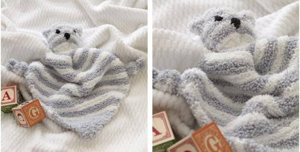 cuddle bear knitted blankie | the knitting space