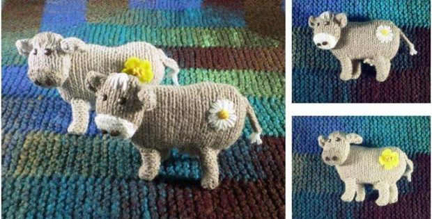 cuddlesome knitted cows | the knitting space
