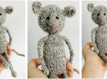cuddlesome knitted pocket mouse | the knitting space