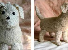cuddly Rufus knitted toy puppy | the knitting space