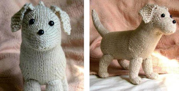 Cuddly Rufus Knitted Toy Puppy Free Knitting Pattern