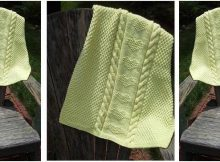 cuddly cabled baby blanket | the knitting space