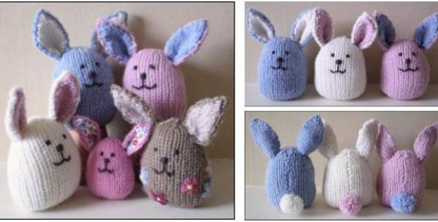 Knitting Easter Bunnies : Cute knitted baby bunnies free knitting pattern