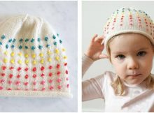 cute button candy knitted hat | the knitting space