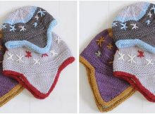 cute flurry knitted flap hats | the knitting space