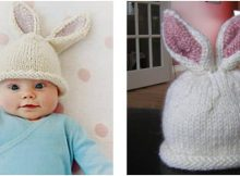 cute knitted bunny beanie | the knitting space