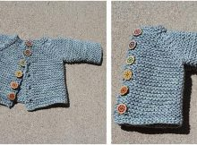 cute knitted vanilla baby cardigan | the knitting space