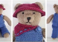 cute knitted teddy bear clothes | the knitting space
