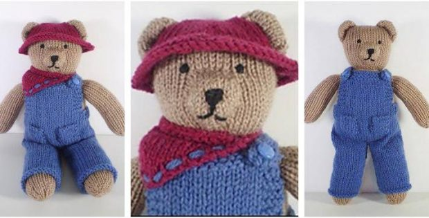 Cute Knitted Teddy Bear Clothes [FREE Knitting Pattern]