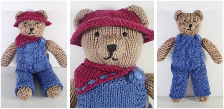 Cute Knitted Teddy Bear Clothes Free Knitting Pattern