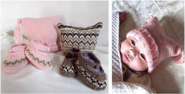 cute 'n charming knitted baby set | the knitting space