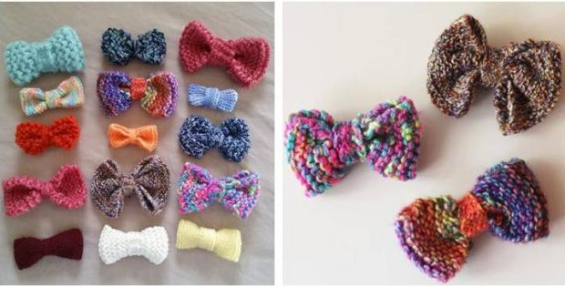 Cute N Cheery Knitted Bows Free Knitting Pattern