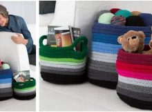 cute ombré knitted baskets | the knitting space