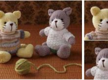 cutesome knitted amigurumi cats | the knitting space