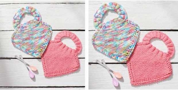Cutesome Knitted Baby Bibs Free Knitting Pattern