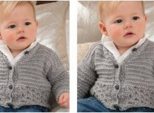 cutesome knitted baby cardigan | the knitting space