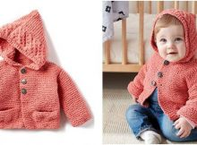 cutesome knitted baby hoodie   the knitting space