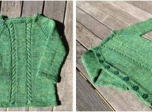 cute Keith knitted baby cardi | the knitting space