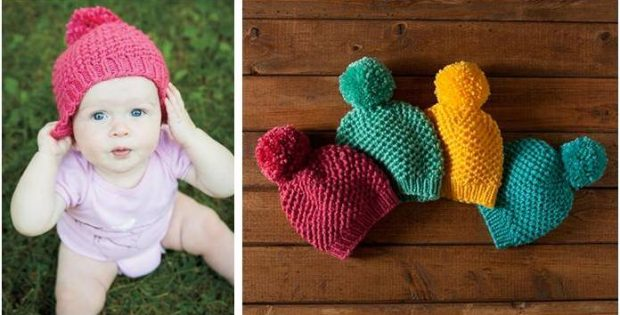 Cutiful Bee Stitch Knitted Hat Free Knitting Pattern