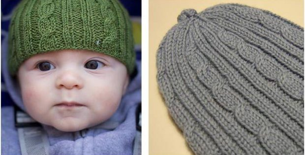 Cutiful Cables Knitted Baby Hat Free Knitting Pattern